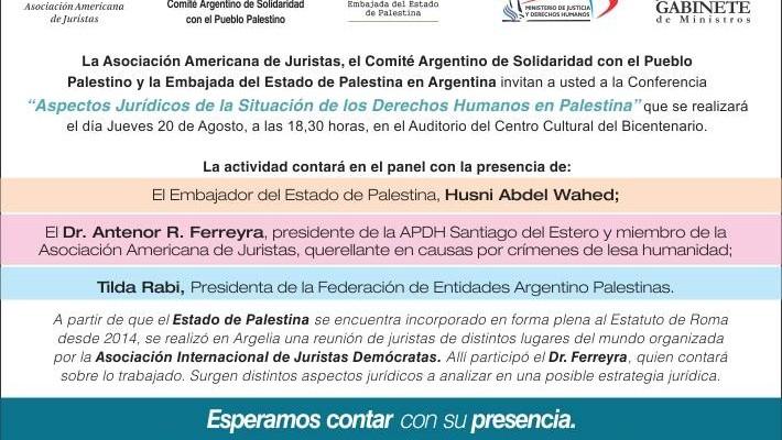 Conferencia en Santiago del Estero:
