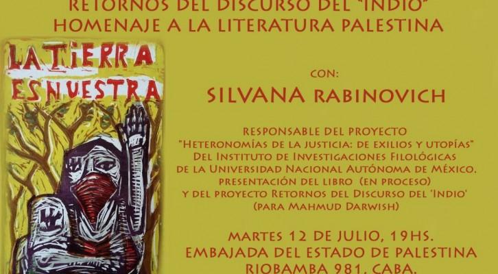 Conferencia de Silvana Rabinovich. Homenaje a la literatura palestina.