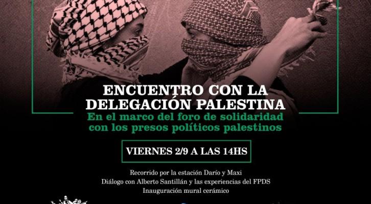 Presos Políticos Palestinos: 2/9 14hs en la Estación Darío y Maxi