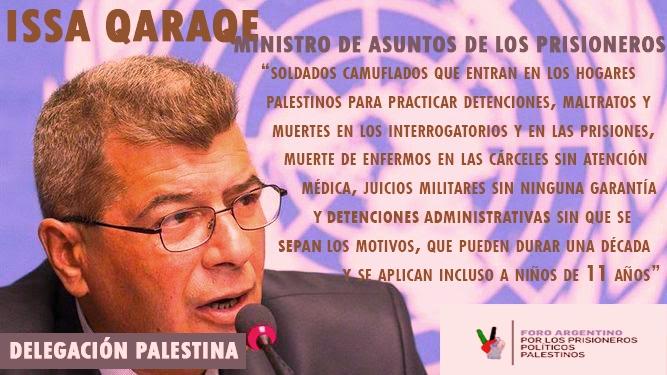 Presos Políticos Palestinos: Delegación Palestina en Argentina