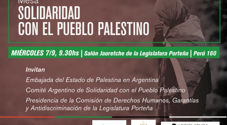 Mesa Solidaridad con el Pueblo Palestino en la Legislatura Porteña